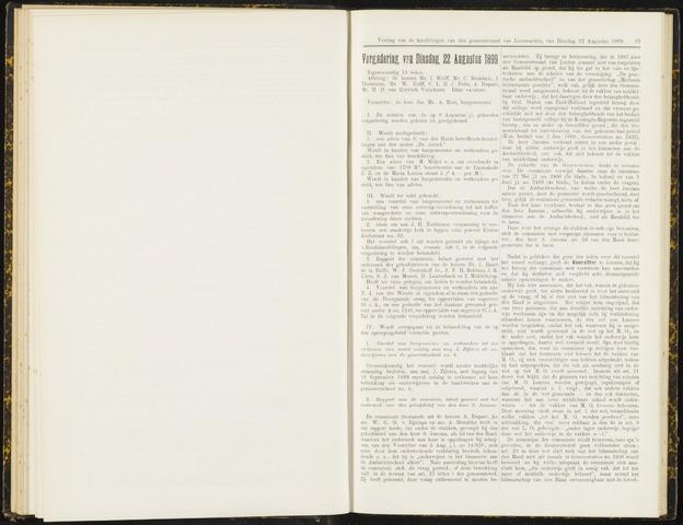 Raadsverslagen van de gemeente Leeuwarden, 1865-2007 (Notulen) 1899-08-22