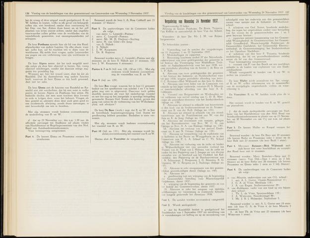 Raadsverslagen van de gemeente Leeuwarden, 1865-2007 (Notulen) 1937-11-24