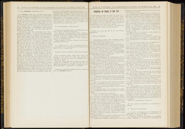 Raadsverslagen van de gemeente Leeuwarden, 1865-2007 (Notulen) 1921-04-26