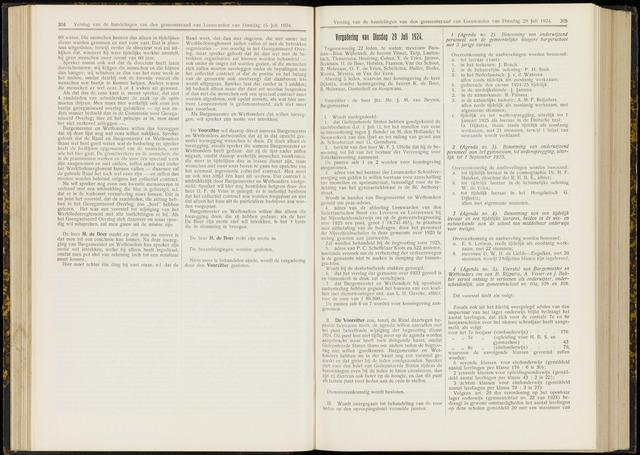 Raadsverslagen van de gemeente Leeuwarden, 1865-2007 (Notulen) 1924-07-29