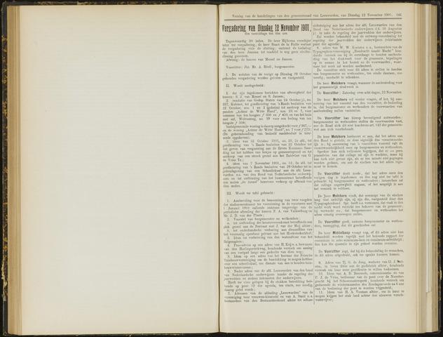 Raadsverslagen van de gemeente Leeuwarden, 1865-2007 (Notulen) 1901-11-12