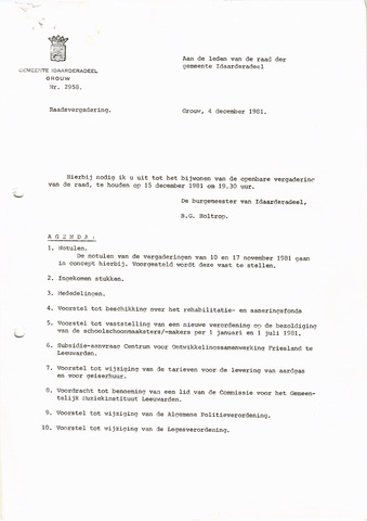 raadsverslagen Idaarderadeel 1935-1983 1981-12-15