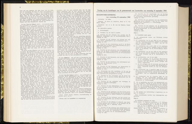 Raadsverslagen van de gemeente Leeuwarden, 1865-2007 (Notulen) 1960-09-14