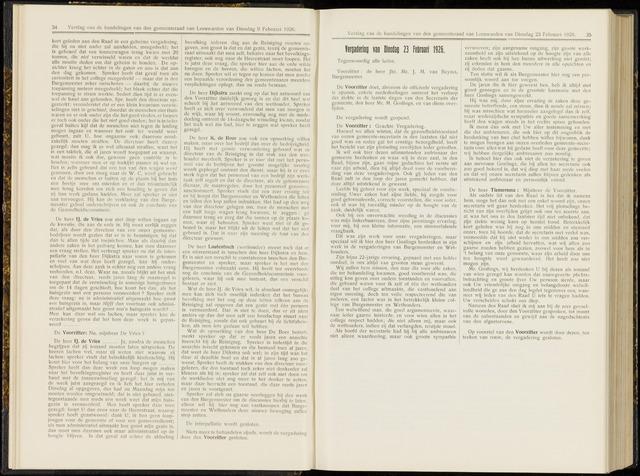 Raadsverslagen van de gemeente Leeuwarden, 1865-2007 (Notulen) 1926-02-23