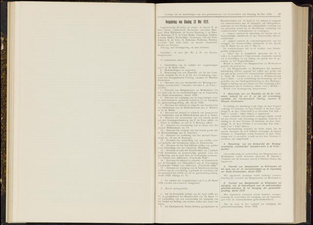 Raadsverslagen van de gemeente Leeuwarden, 1865-2007 (Notulen) 1929-05-28
