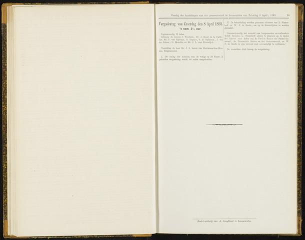 Raadsverslagen van de gemeente Leeuwarden, 1865-2007 (Notulen) 1893-04-08