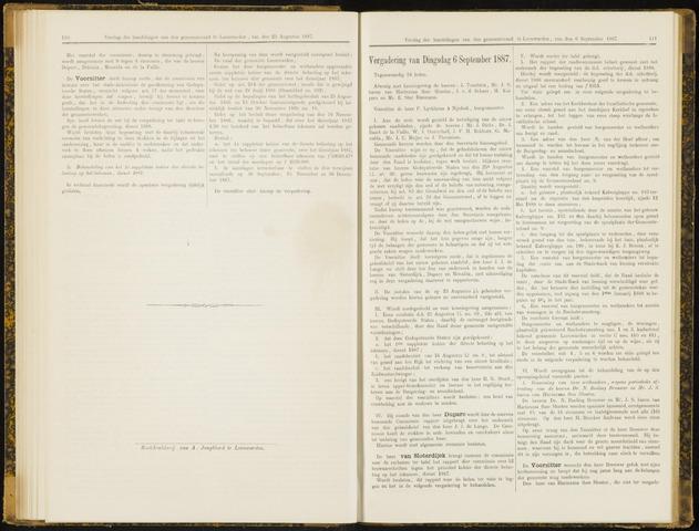 Raadsverslagen van de gemeente Leeuwarden, 1865-2007 (Notulen) 1887-09-06