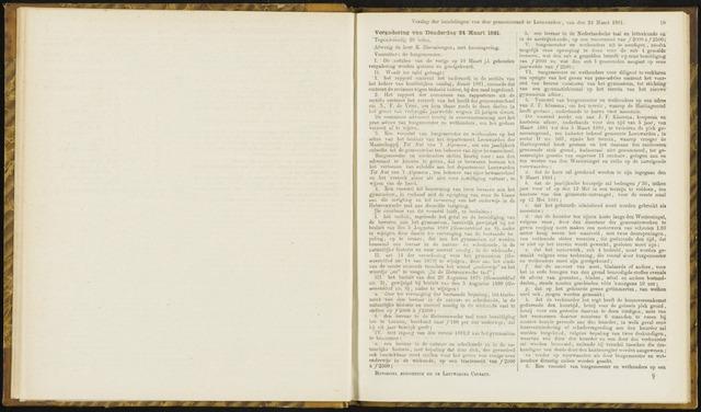 Raadsverslagen van de gemeente Leeuwarden, 1865-2007 (Notulen) 1881-03-24