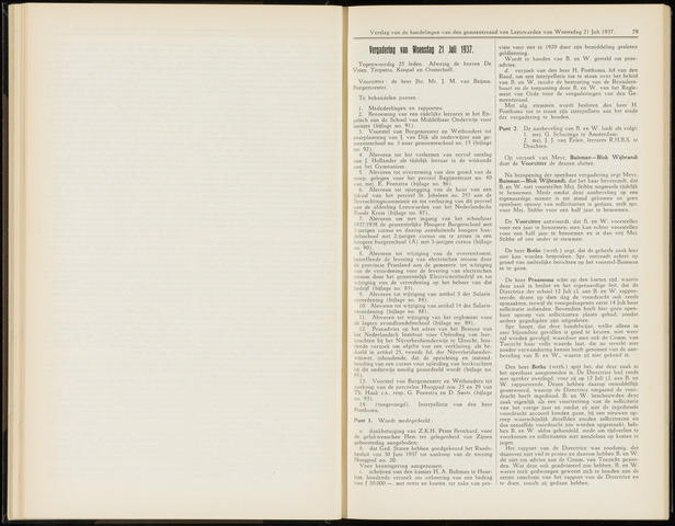 Raadsverslagen van de gemeente Leeuwarden, 1865-2007 (Notulen) 1937-07-21