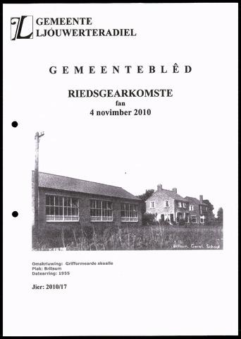 Notulen van de gemeenteraad van Leeuwarderadeel 2010-11-04
