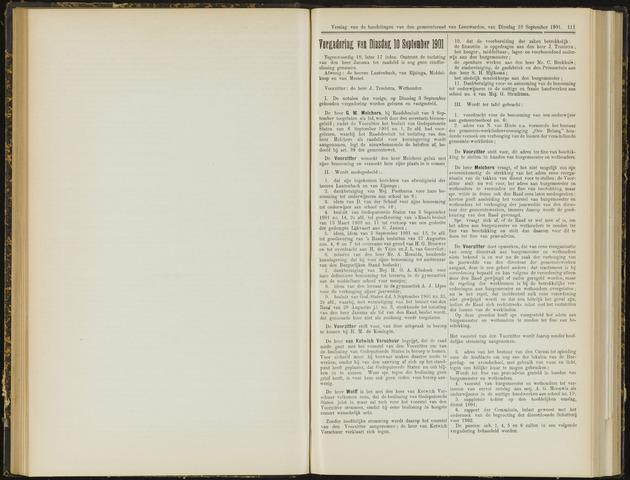 Raadsverslagen van de gemeente Leeuwarden, 1865-2007 (Notulen) 1901-09-10