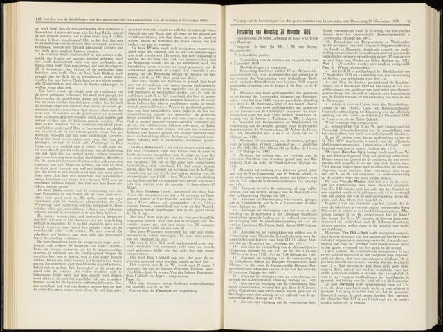 Raadsverslagen van de gemeente Leeuwarden, 1865-2007 (Notulen) 1939-11-29
