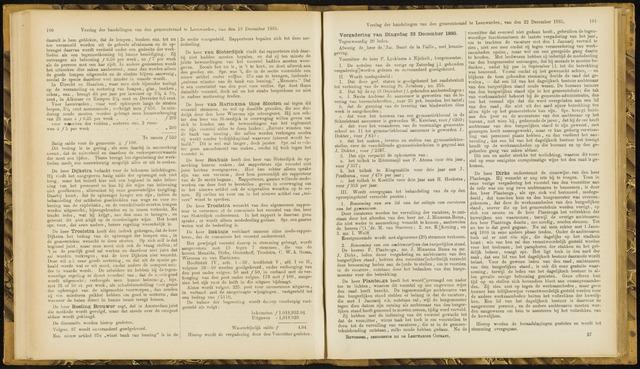 Raadsverslagen van de gemeente Leeuwarden, 1865-2007 (Notulen) 1885-12-22