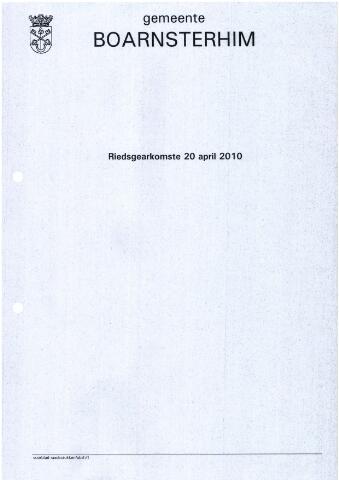 Boarnsterhim vergaderstukken gemeenteraad  2010-04-20