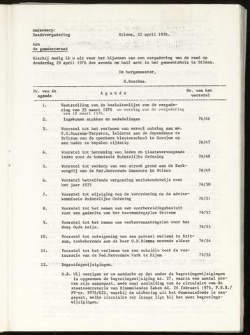 Notulen van de gemeenteraad van Leeuwarderadeel 1976-04-29