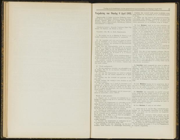 Raadsverslagen van de gemeente Leeuwarden, 1865-2007 (Notulen) 1902-04-08