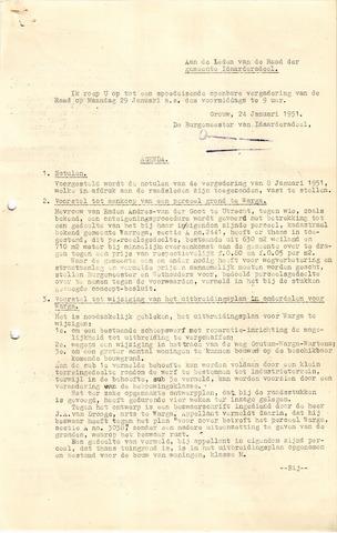 raadsverslagen Idaarderadeel 1935-1983 1951-01-29