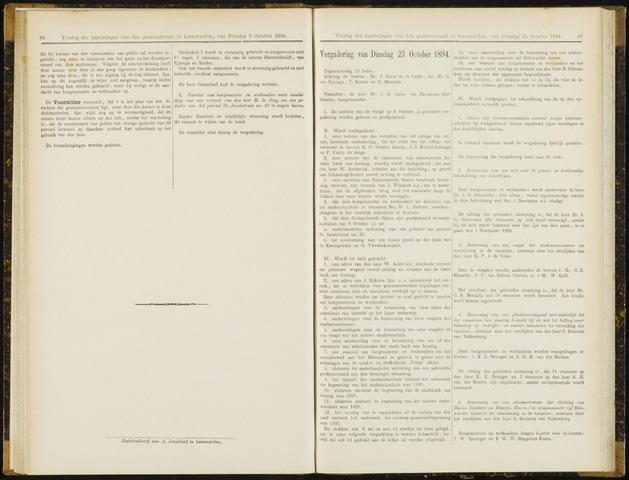 Raadsverslagen van de gemeente Leeuwarden, 1865-2007 (Notulen) 1894-10-23