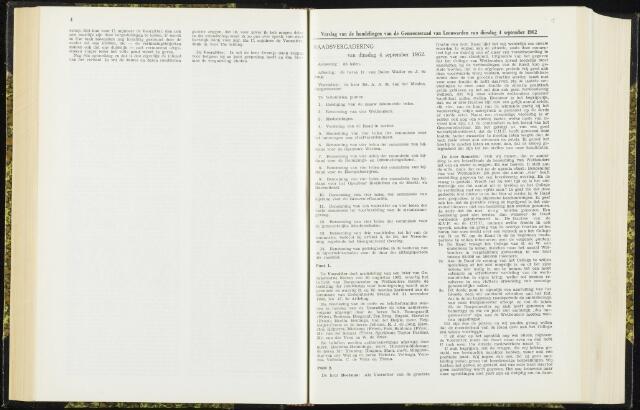 Raadsverslagen van de gemeente Leeuwarden, 1865-2007 (Notulen) 1962-09-04