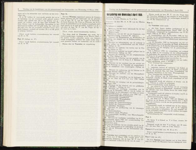 Raadsverslagen van de gemeente Leeuwarden, 1865-2007 (Notulen) 1950-04-05