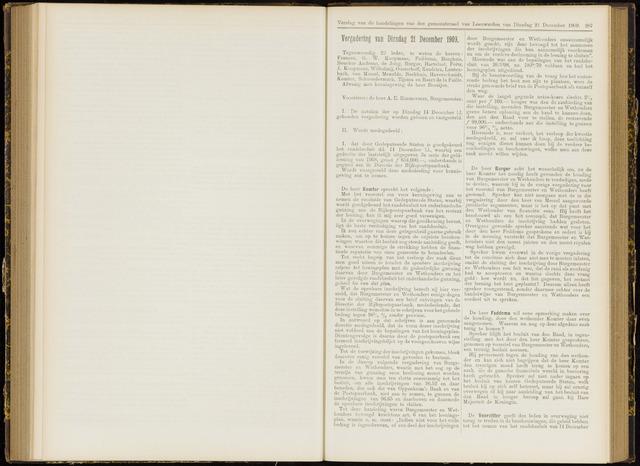 Raadsverslagen van de gemeente Leeuwarden, 1865-2007 (Notulen) 1909-12-21