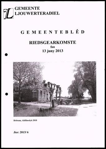 Notulen van de gemeenteraad van Leeuwarderadeel 2013-06-13