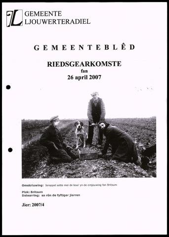 Notulen van de gemeenteraad van Leeuwarderadeel 2007-04-26