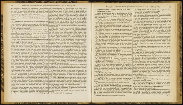 Raadsverslagen van de gemeente Leeuwarden, 1865-2007 (Notulen) 1885-07-28