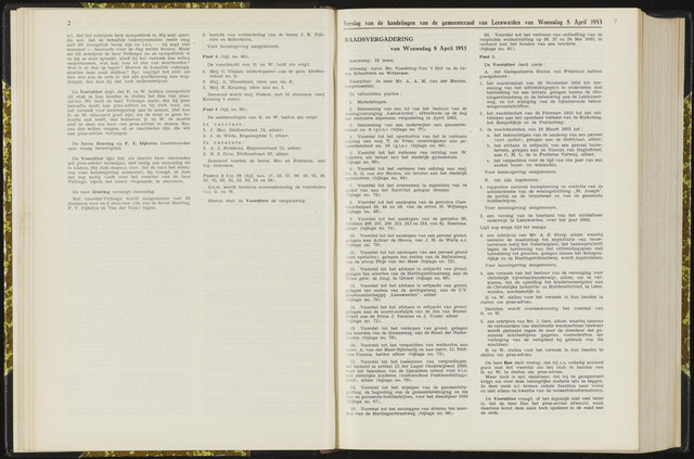 Raadsverslagen van de gemeente Leeuwarden, 1865-2007 (Notulen) 1953-04-08
