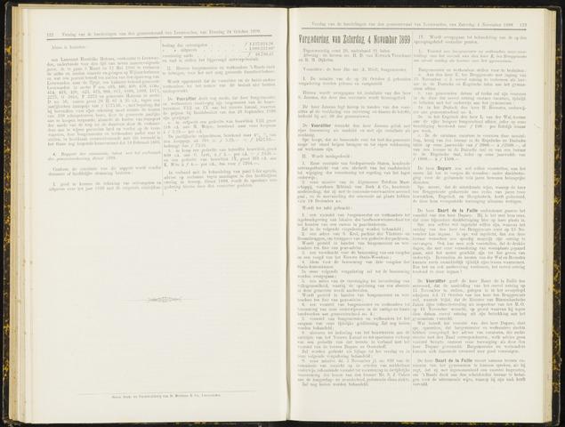 Raadsverslagen van de gemeente Leeuwarden, 1865-2007 (Notulen) 1899-11-04