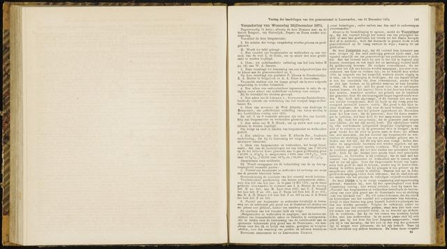 Raadsverslagen van de gemeente Leeuwarden, 1865-2007 (Notulen) 1874-12-23