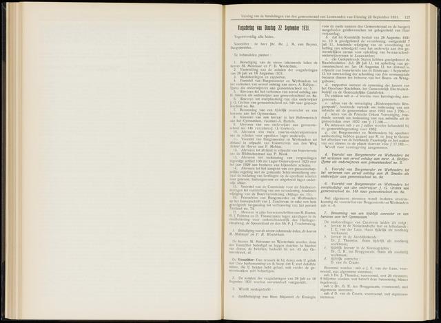 Raadsverslagen van de gemeente Leeuwarden, 1865-2007 (Notulen) 1931-09-22