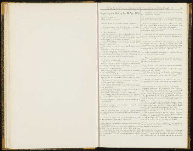Raadsverslagen van de gemeente Leeuwarden, 1865-2007 (Notulen) 1893-04-11
