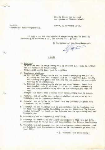 raadsverslagen Idaarderadeel 1935-1983 1962-11-29