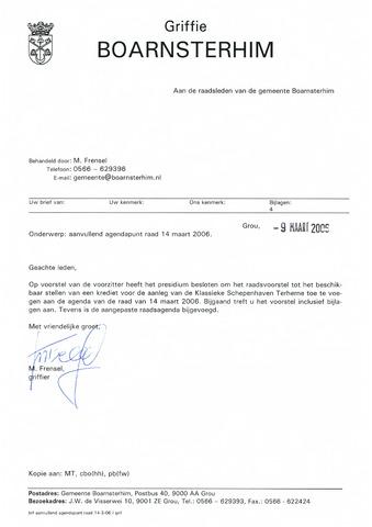 Boarnsterhim vergaderstukken gemeenteraad  2006-03-14