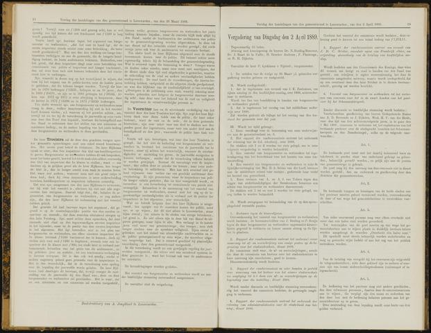 Raadsverslagen van de gemeente Leeuwarden, 1865-2007 (Notulen) 1889-04-02