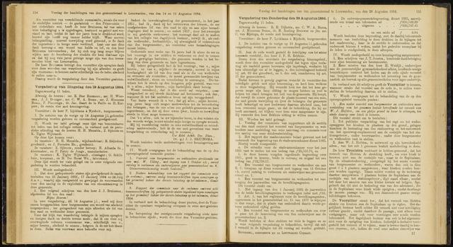 Raadsverslagen van de gemeente Leeuwarden, 1865-2007 (Notulen) 1884-08-19