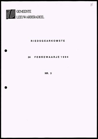 Notulen van de gemeenteraad van Leeuwarderadeel 1994-02-24