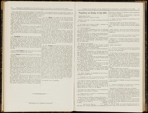 Raadsverslagen van de gemeente Leeuwarden, 1865-2007 (Notulen) 1895-06-11
