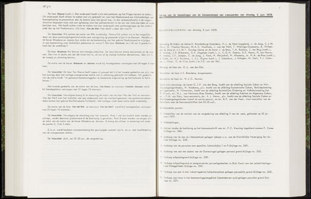 Raadsverslagen van de gemeente Leeuwarden, 1865-2007 (Notulen) 1979-06-05