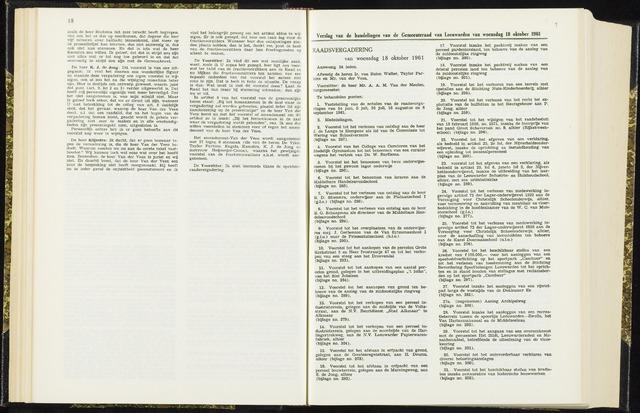Raadsverslagen van de gemeente Leeuwarden, 1865-2007 (Notulen) 1961-10-18