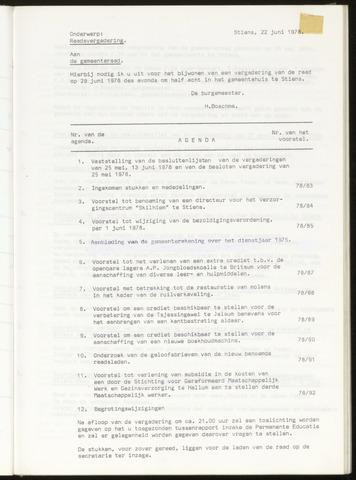 Notulen van de gemeenteraad van Leeuwarderadeel 1978-06-29