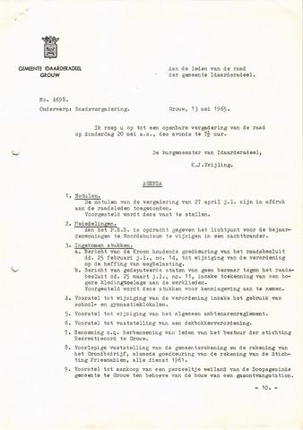 raadsverslagen Idaarderadeel 1935-1983 1965-05-20