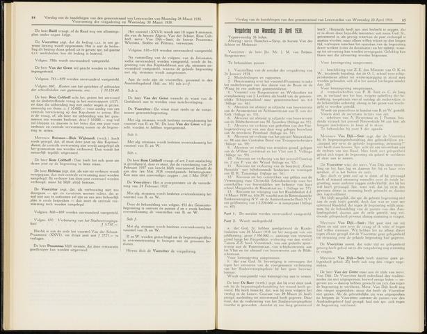 Raadsverslagen van de gemeente Leeuwarden, 1865-2007 (Notulen) 1938-04-20