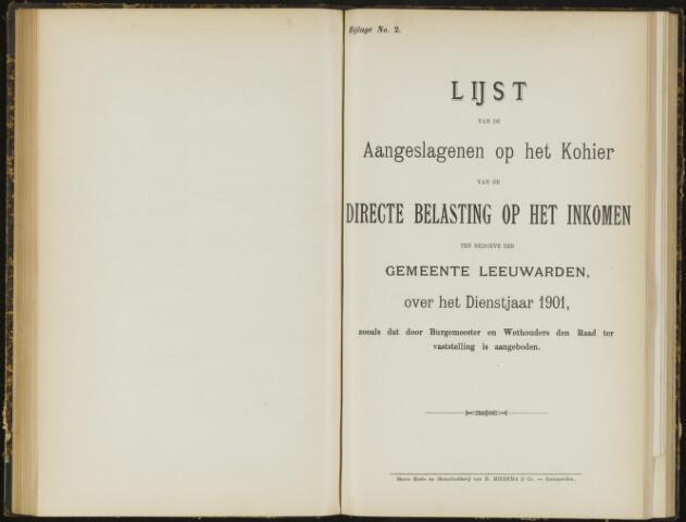 Raadsverslagen van de gemeente Leeuwarden, 1865-2007 (Bijlagen) 1901-01-01
