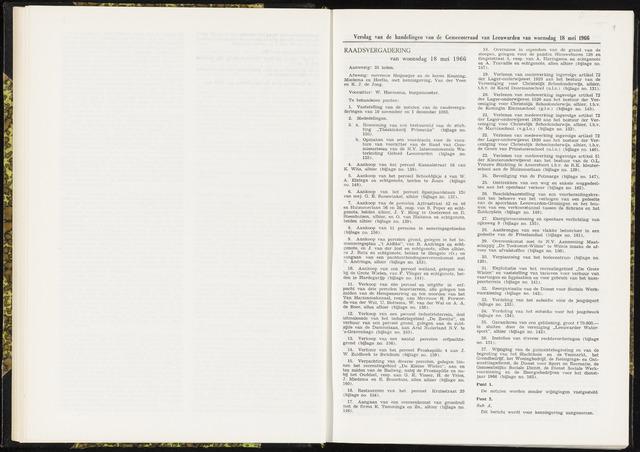 Raadsverslagen van de gemeente Leeuwarden, 1865-2007 (Notulen) 1966-05-18