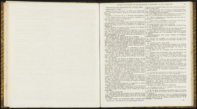 Raadsverslagen van de gemeente Leeuwarden, 1865-2007 (Notulen) 1879-07-10