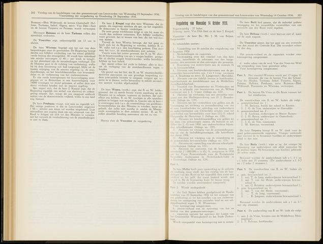 Raadsverslagen van de gemeente Leeuwarden, 1865-2007 (Notulen) 1936-10-14