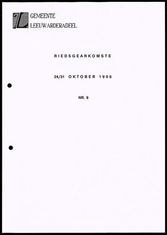 Notulen van de gemeenteraad van Leeuwarderadeel 1996-10-24