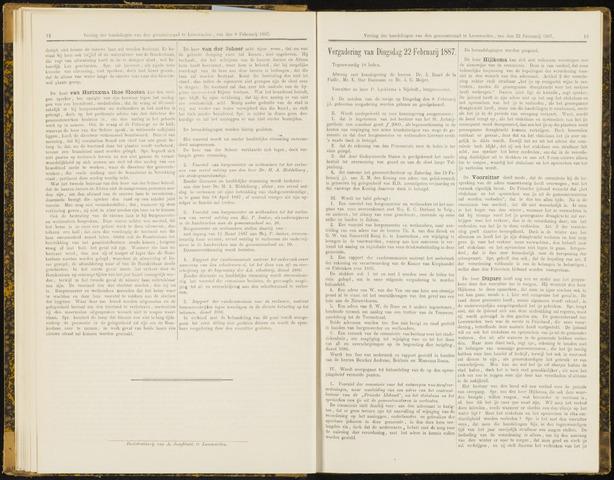 Raadsverslagen van de gemeente Leeuwarden, 1865-2007 (Notulen) 1887-02-22